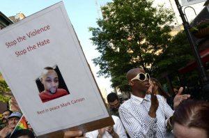 Mark Carson Protest