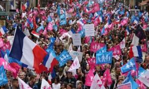 Paris anti-gay marriage protest