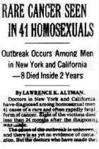 AIDS NYT '81